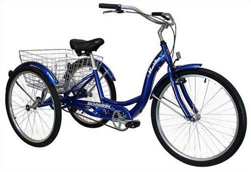 Schwinn Meridian Adult three wheel cruiser bike blue