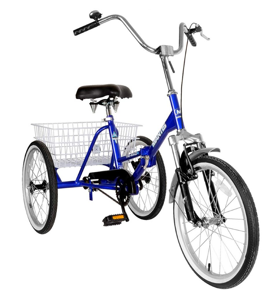 Tri-Rad Adult Unisex Folding Tricycle