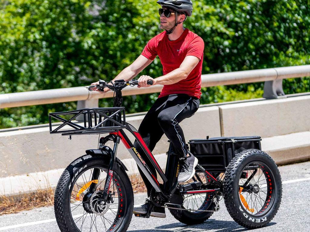 three wheeled bike with basket