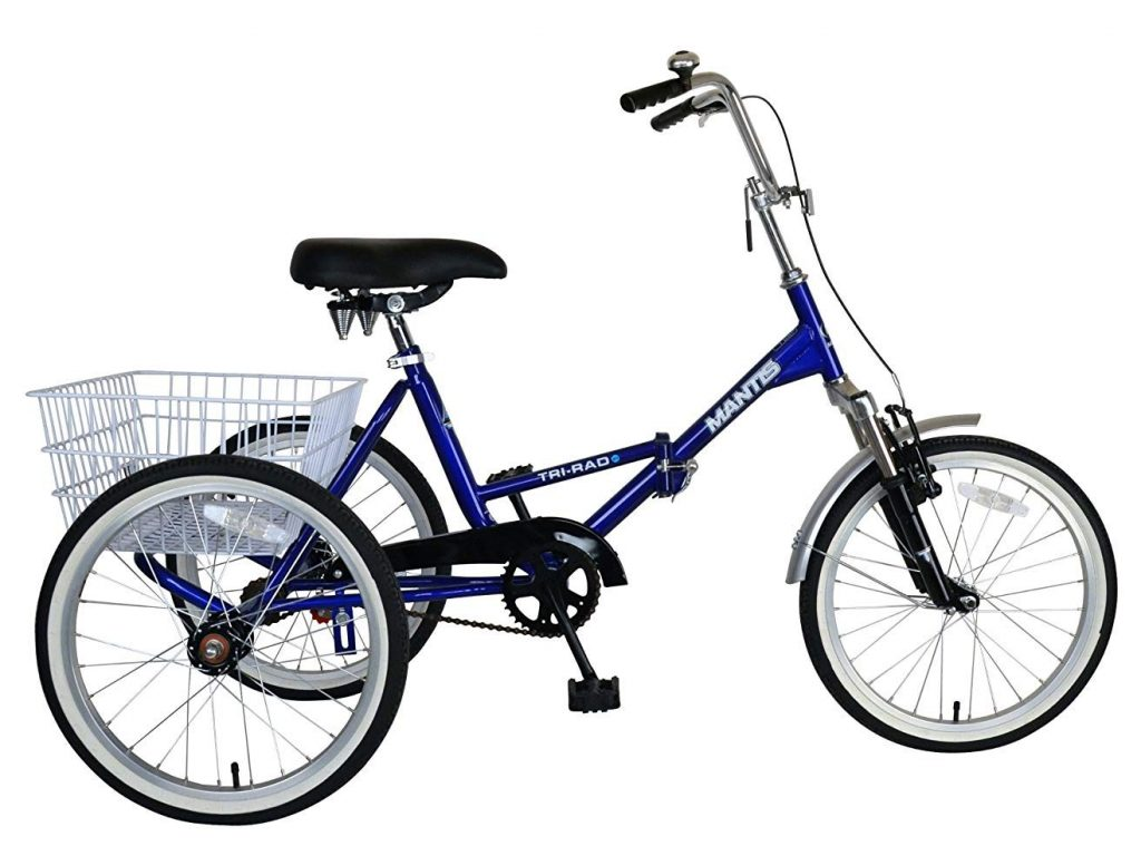 mantis tri rad adult folding tricycle
