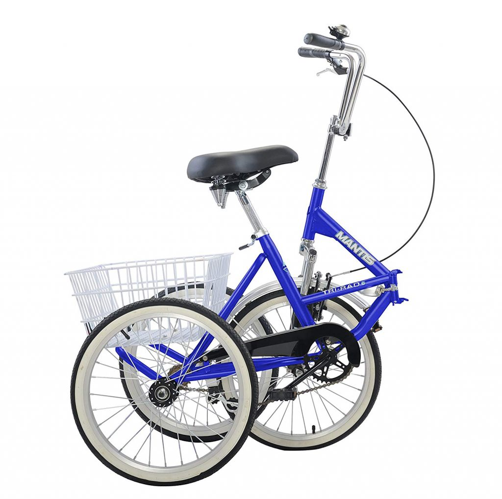 mantis tri rad adult tricycle folded